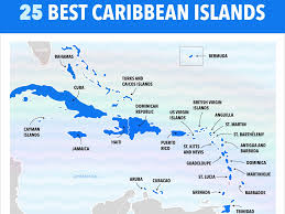 Chart Of Caribbean Islands This Map Shows Our Ranking Of The Best Caribbean Islands