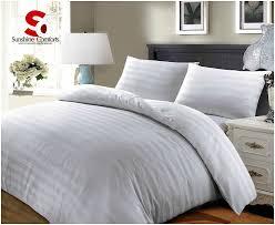 100 luxury hotel quality egyptian cotton satin stripe duvet cover set