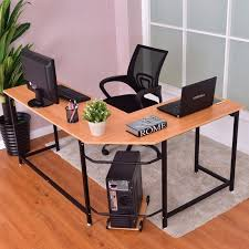 office desk workstation. Goplus L-Shaped Corner Computer Desk PC Latop Study Table Modern Workstation Home Office D