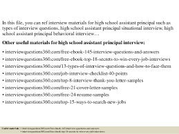 Assistant Principal Interview Questions And Answers Top 10 High School Assistant Principal Interview Questions