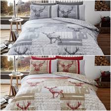 new stag flannelette duvet cover set