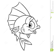 Small Picture Fish Coloring Pages Gallery Of Cartoon Of Piranha Fish Coloring