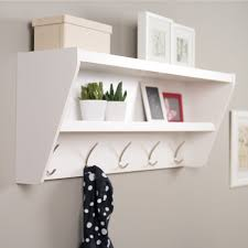 Hanging Coat Rack On Wall Furniture Vertical Wall Coat Rack Mirror With Coat Hooks And Shelf 63