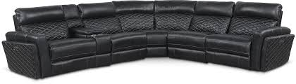 black recliner couch. Exellent Black Catalina 6Piece Power Reclining Sectional With 2 Seats  Black With Recliner Couch