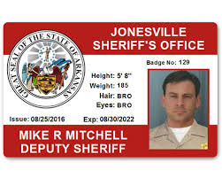 Card Id Department Pvc Sheriff's