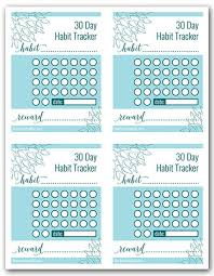 Day Tracker Planner 30 Day Habit Tracker Free Printable Decluttering Tracker Free
