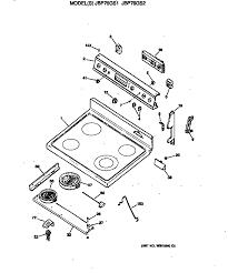 general electric jbpgsww electric range timer stove clocks jbp76gs2ww electric range cooktop parts diagram