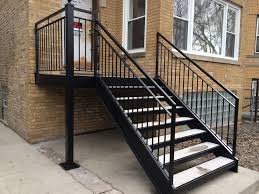metal handrails for deck stairs. chicago iron railings \u0026 handrails contractors, fences and gates contractors metal for deck stairs t