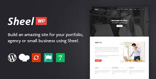 Company Portfolio Template Custom Sheel Creative Agency And Business Landing Page WordPress Theme By