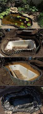 how to turn an old bathtub into a pond