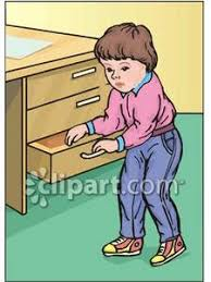 kitchen drawer clipart. boy looking in a drawer - royalty free clipart picture kitchen