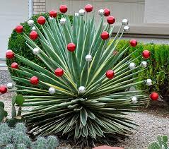 garden decorations ideas. Yuletide Yucca Christmas Garden Decoration | Fabulous Ideas For A Festive Front Yard Decorations .