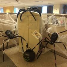 office decorations for halloween. scary halloween spiders at office from getitcutcom decorations for l