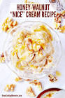 banana  honey and walnut ice cream