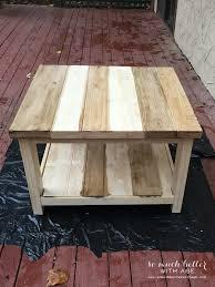 staining ikea rekarne table makeover somuchbetterwithage com