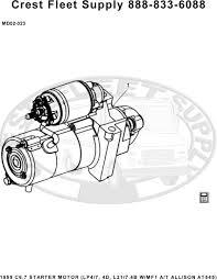 group listing 02 starter motor lp4 7 4d l21 7 4b w mf1 a t allison at545