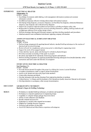 Drafter Resume Electrical Drafter Resume Samples Velvet Jobs 1