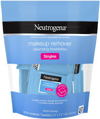 2 pack neutrogena makeup remover cleansing towelette singles daily face wipes to remove dirt oil makeup waterproo walmart