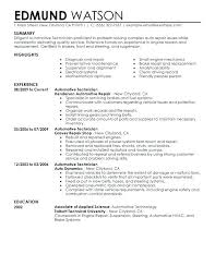 Tire Technician Resume Sample