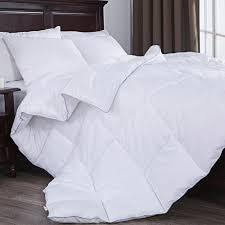 puredown down alternative comforter duvet insert white full queen size