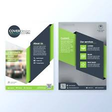 Green Brochure Template Green Brochure Template With Circles Free Vector Corporate Design