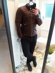 details about zara medium burg fitted cafe racer leather biker flying jacket nwt 38 reg medium
