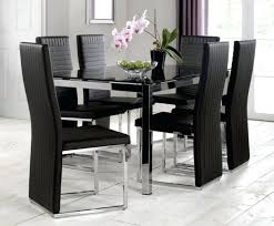 black faux leather dining chairs faux leather dining chair brushed steel legs throughout chairs black and