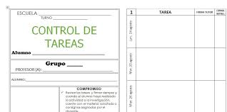 formato de asistencias control de tareas escolares formato imprimible planeaciones