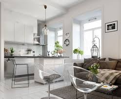 What Is Nordic Inspired One Room Kitchen Interior Design Apartment ...