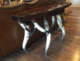 rustic furniture pics. Western Rustic Furniture Table With Horn Legs Pics
