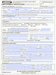 subway job application adobe pdf subway job application form