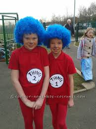 last minute thing 1 and thing 2 costumes for uk world book day