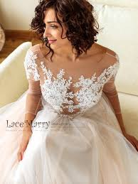 Top Lace Wedding Dress Designers Long Sleeves Boho Wedding Dress With Tattoo Design