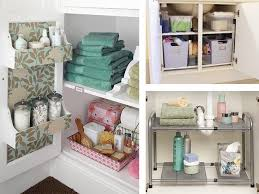 bathroom cabinet organizer under sink roomations bathroom organization storage