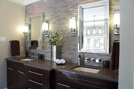 wall sconces wall light sconces brown bathroom set mirrors brown towel white towel white lighting brown pattern wall grey wall yellow green artificial