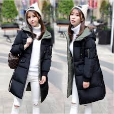 dollypoody women fresh style winter long coat with hoo