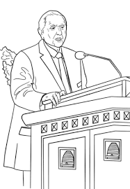 Small Picture Thomas S Monson Speaks at the General Conference coloring page