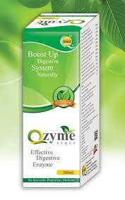Medicine Syrup Box Design Qzyme Syrup Effective Ayurvedic Digestive Enzyme Label