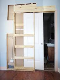how to destroy your fears install a pocket door within closet doors plans 1