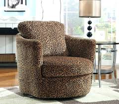 leopard accent chair snow blue grey