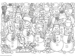 Small Picture Winter Doodle Coloring Pages 1111
