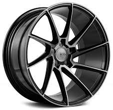 20x8 5 Inch Savini Black Di Forza Bm15 Gloss Black W Double Dark