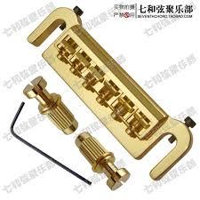 Golden Badass Style Wraparound Guita Tune O Matic <b>Bridge</b> for ...