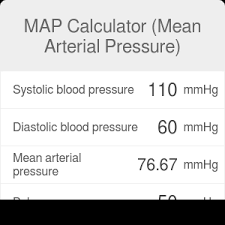 Map Calculator Mean Arterial Pressure Formula Omni