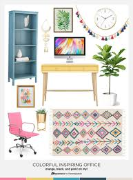 office office home decor tips. Colorful And Inspiring Home Office Decor Tips