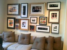 Picture Frame Collage Ideas For The Wall With Sofa