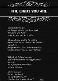 Poems About Shining Your Light The Light You Are Feel Poetry
