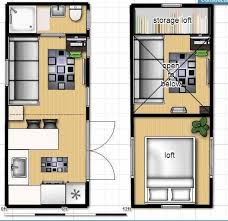 Small Picture Tiny house on wheels floor plan with single loft HoW plans