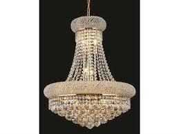 elegant lighting primo royal cut gold crystal 14 light 20 wide chandelier