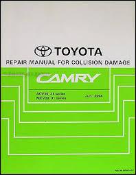 2006 toyota camry wiring diagram manual original 2002 2006 toyota camry body collision repair shop manual original